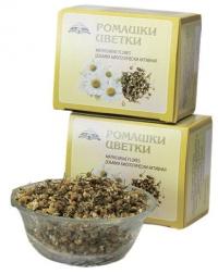 Добавка биологически активная к пище «Ромашки цветки, сырьё цельное 50 грамм»