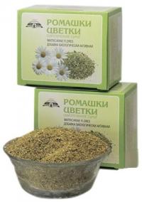Добавка биологически активная к пище «Ромашки цветки, обмолоченное сырьё, измельчённое» 50 грамм